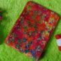 bengkung katun batik cap – bengkung belly binding – bengkung andien batik cap merah daun