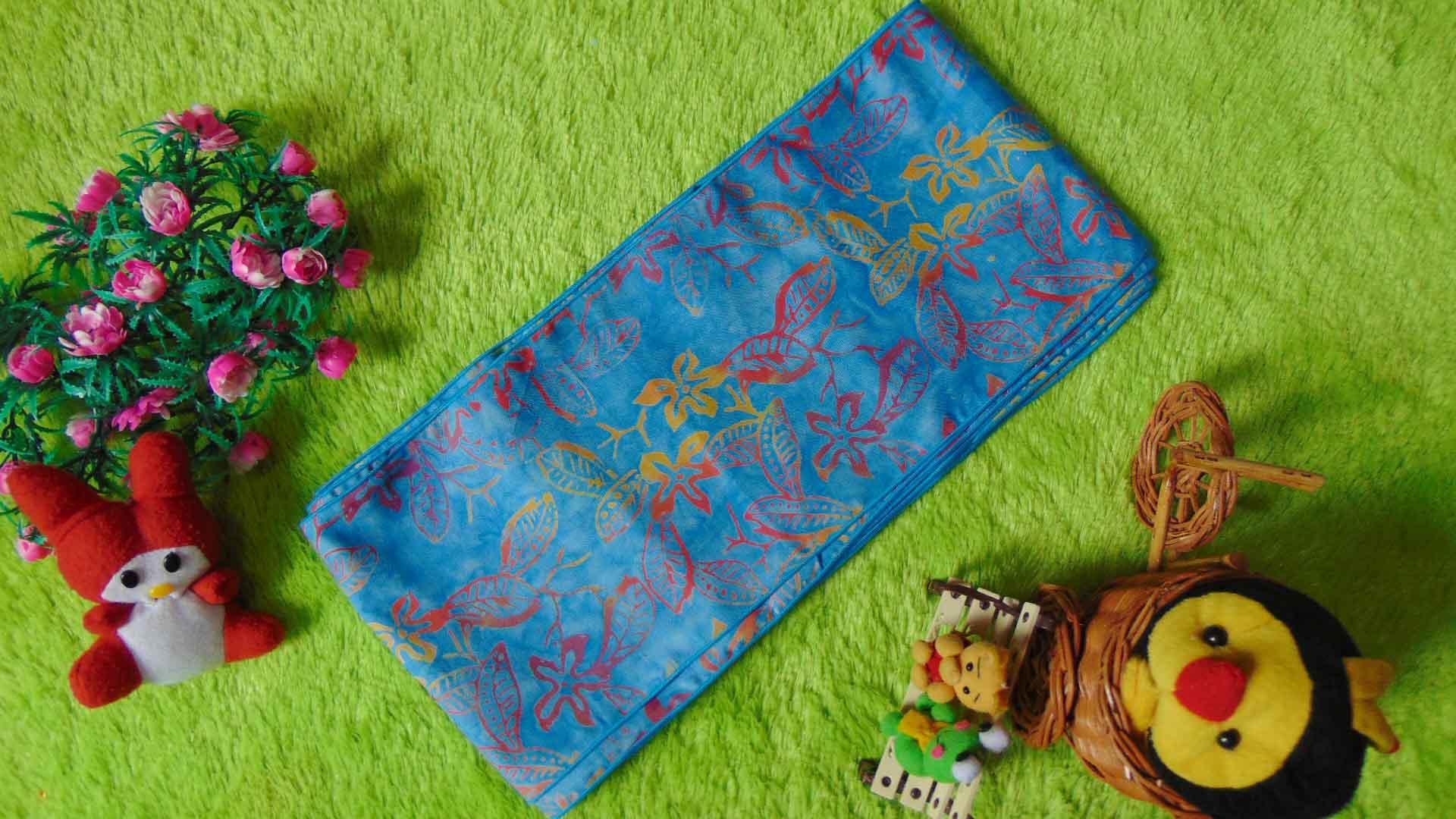 stagen – pelangsing perut – korset – bengkung katun – bengkung belly binding – bengkung andien batik cap danar hadi biru muda