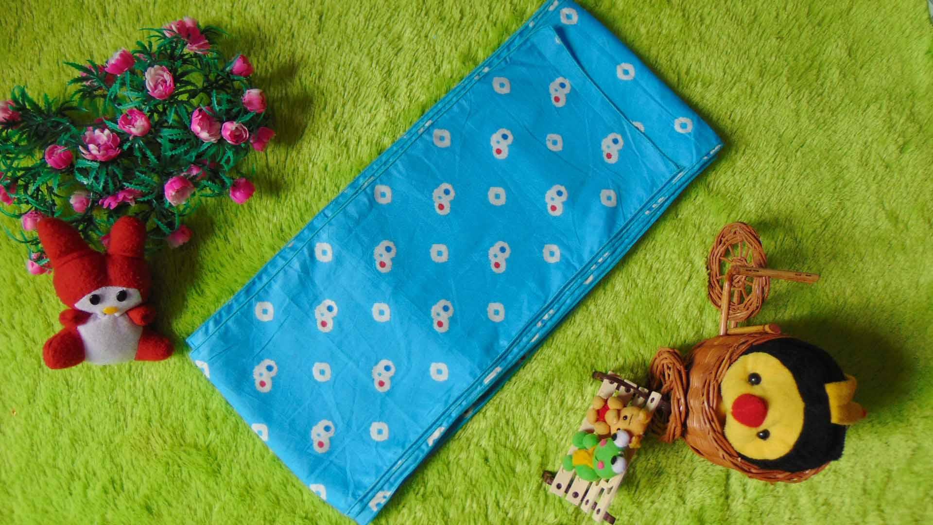 stagen – pelangsing perut – korset – bengkung katun – bengkung belly binding – bengkung andien jumputan tiga cengkeh biru muda