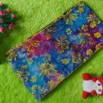 bengkung katun batik cap – bengkung belly binding – bengkung andien batik cap pink biru merak